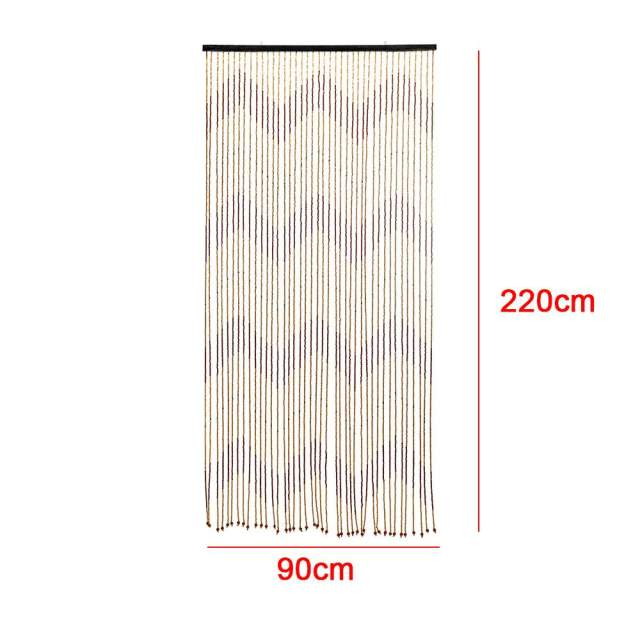 90x220cm High Quality Wooden Door Curtain Blinds Handmade Fly Screen Wooden Beads Room Divider 31 Line Non-toxic No Smell 3