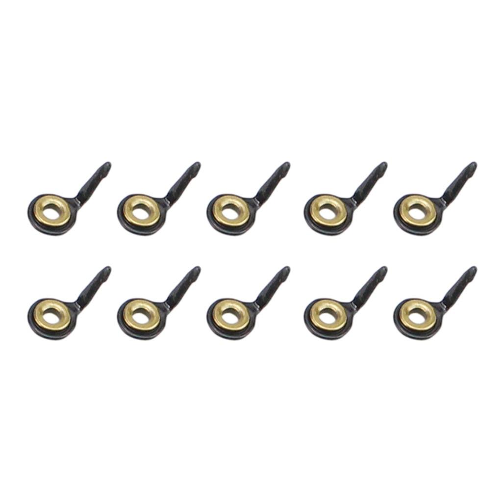 10 шт., направляющие для удочек из нержавеющей стали, кольцевой наконечник для удочки, Ремонтный комплект 3#4#5#6#7#8#10# комплект рыболовных принадлежностей - Цвет: Gold 4