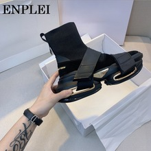 Socks Shoes Ankle-Boot High-Quality Women Enplei with Ladie 35-40 Autumn