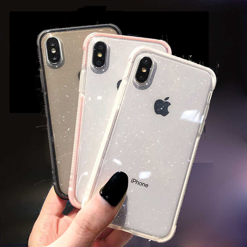 Glitter Bling mixcolor antifall Telefon Fall Für iPhone 11 Pro XS Max X XR SE 2nd Stoßfest Weiche TPU Abdeckung für iPhone 7 6 8 Plus