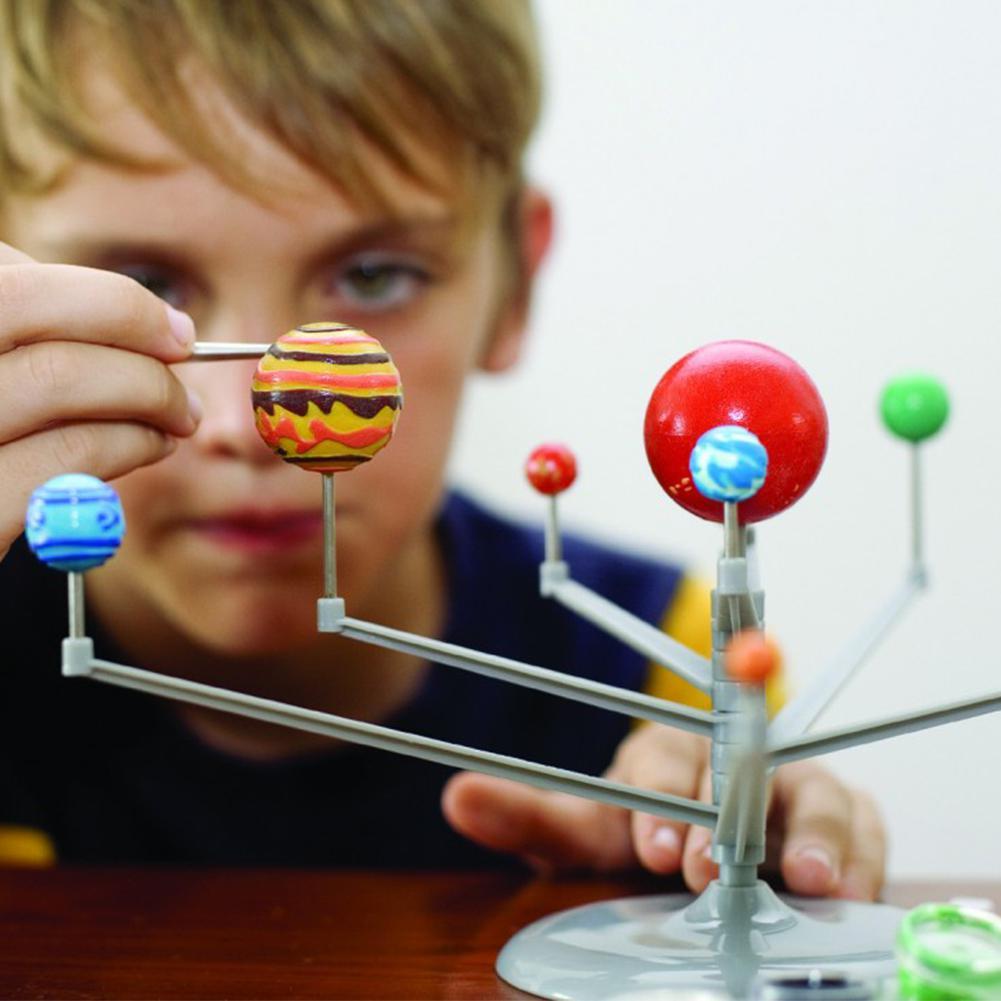 3D Solar System Planetarium  Model Learning Study Science Kits Educational Astronomy Model DIY Toy Gift