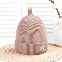 Kint Cartoon Eye Baby Winter Hat For Kids  Beanies Double Side Colorful Warm Hats Cute Caps Hair Accessories 2019