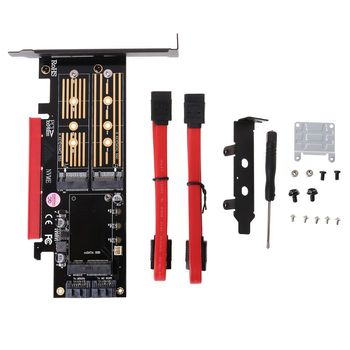 PCI-E 3.0 X16 to M.2 SSD PCIE to M2 Adapter Raiser M Key B Key mSATA 2 x 7Pin SATA Port NVME M2 SSD AHCI mSATA 3 in 1 Riser Card адаптер lenovo system x3550 m5 pcie riser 1 1xlp x16cpu0 00ka061 page 9