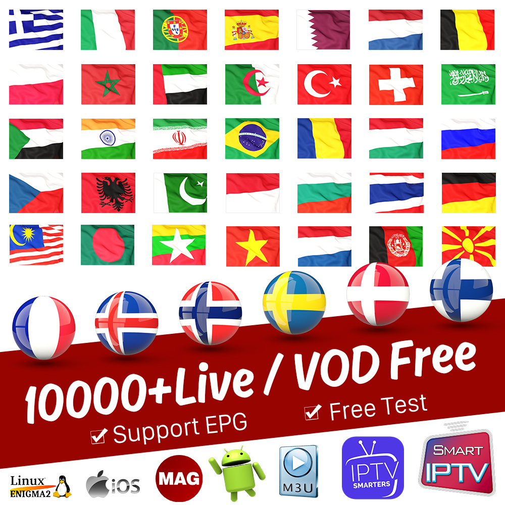 IPTV France Arabic Germany Spain Italia IPTV Subscription Android M3U IPTV Albania Portugal Norway Greek Sweden Finland IP TV