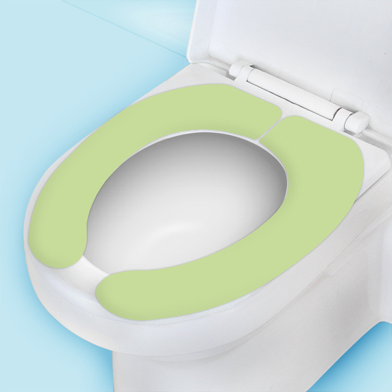 Solid Washroom Sticky Toilet Mat Health, Bathroom Seat Cover