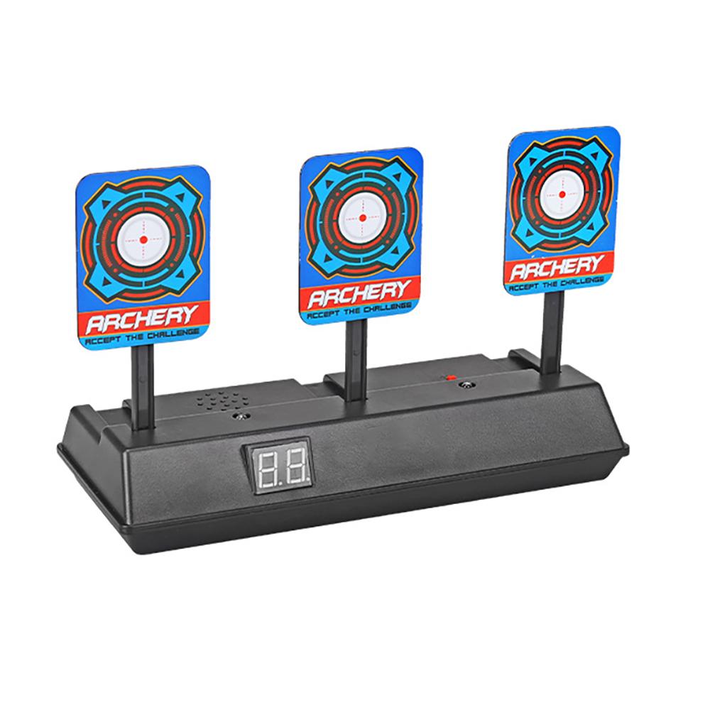 For Toys Shooting Target Kids Sound Light Shooting Game Non-slip High Precision Scoring Auto Reset Electric Target Accessories