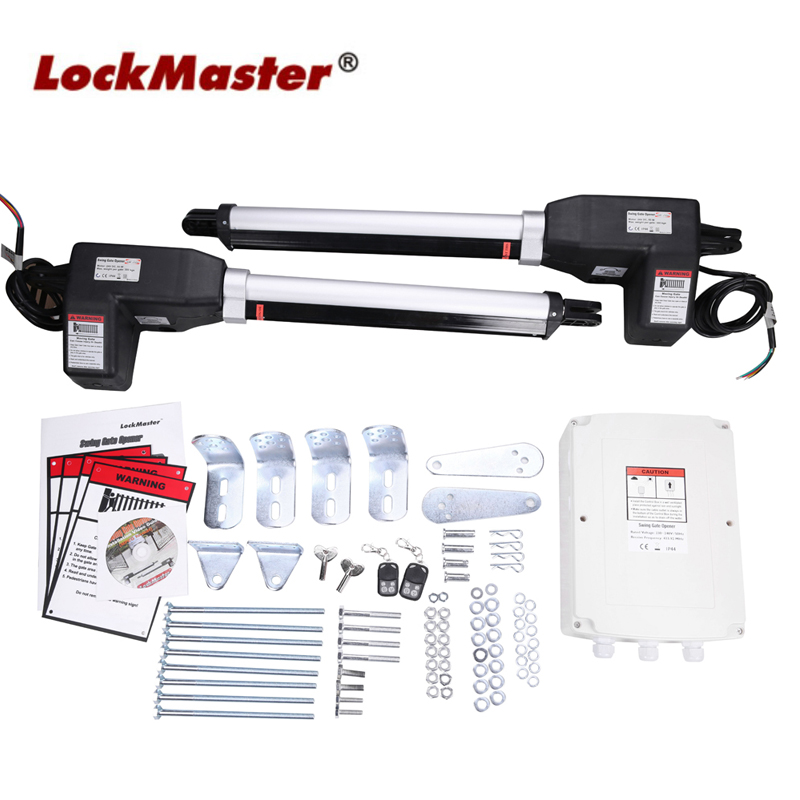 Automatic Swing Gate Opener For Gate Weight Up To 400KGS And 5 Meters Each Leaf LOCKMASTER LM902 Joytech Giant Optional