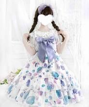 Японское платье в стиле сладкой Лолиты jsk для девочек Кружевное