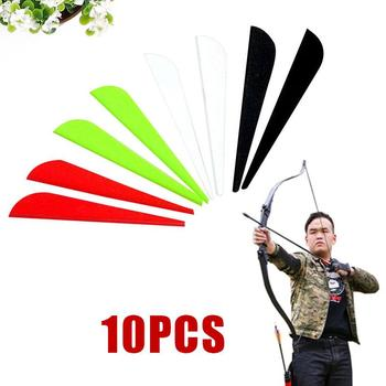 Durable 3 7.5CM Feather Arrows Tail Feather Hunting Vanes Archery Fletching Feathers Wing Shield Sports Plastic image