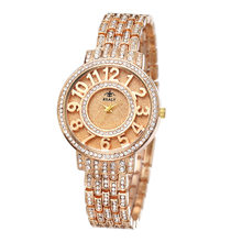 Luxury Gold watch Quartz Watches Casual Women Watches Hollow three-dimensional Steel Watch Womens Lady gifts Retro wristwatches(China)