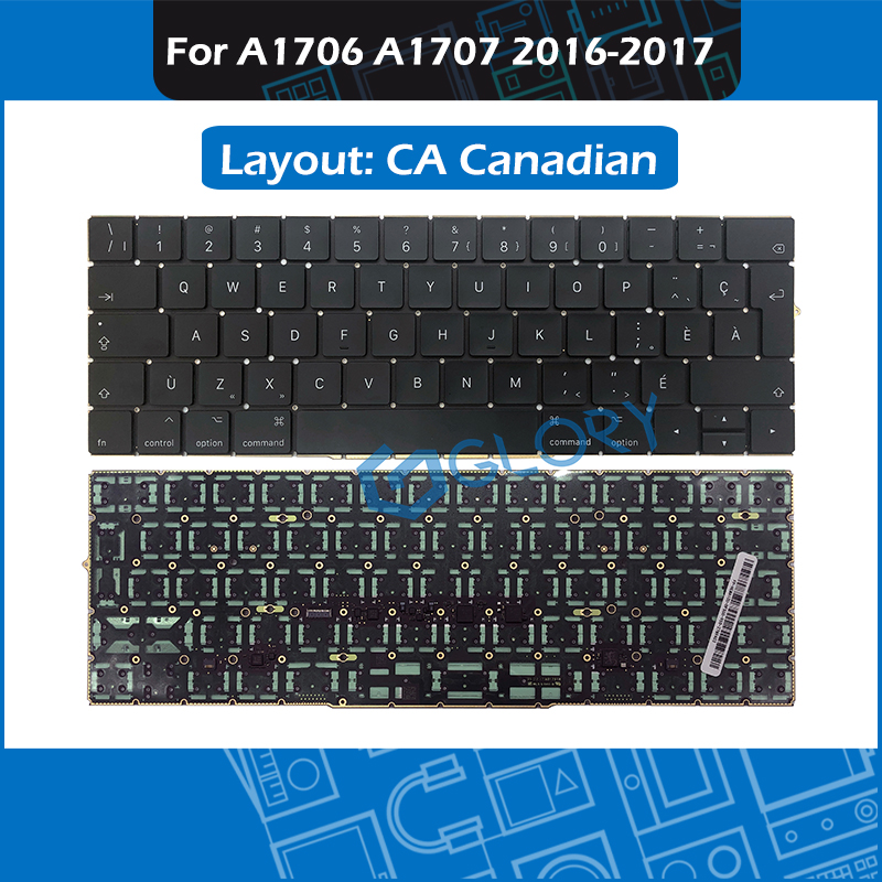 Laptop CA Canadian Layout Replacement Keyboard For Macbook Pro Retina 13 15 A1706 A1707 Keyboard 2016 2017 image