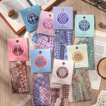 Journamm 30pcs Color Grid Deco Sticky for Phone Journling Stationery Supplies Sticker Bullet Journal Scrapbooking Label Stickers