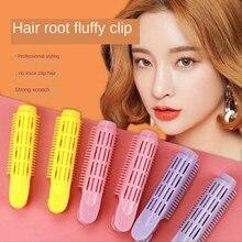 4 Uds. De pinza de pelo esponjoso Natural, pelo rizado, raíz, pinza flequillo, pinza de peinado, horquillas de Color caramelo, accesorios para el cabello