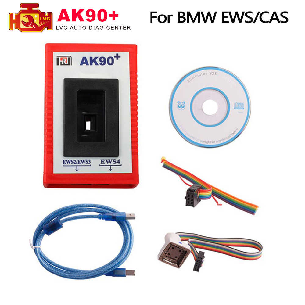 AK90 + Per BMW V3.19 AK90 più OBD2 Auto Programmatore Chiave per BMW CAS/EWS da 1995-2009 AK90 + Chiave di Programmazione OBD Strumento