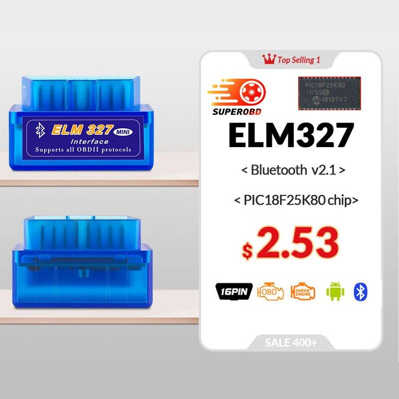 Супер Мини ELM327 V2.1 Bluetooth V2.1 OBD2 автомобильный диагностический инструмент ELM 327 v2.1 считыватель кодов для Android/Symbian для протоколов OBDII