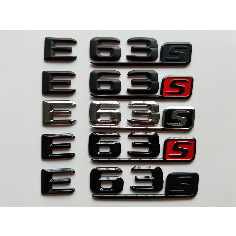 Sliver Car Rear Trunk Chrome Emblem Badge Stickers for Mercedes Benz E Class W204 W203 W211 W210 W212 W205 W207 E500