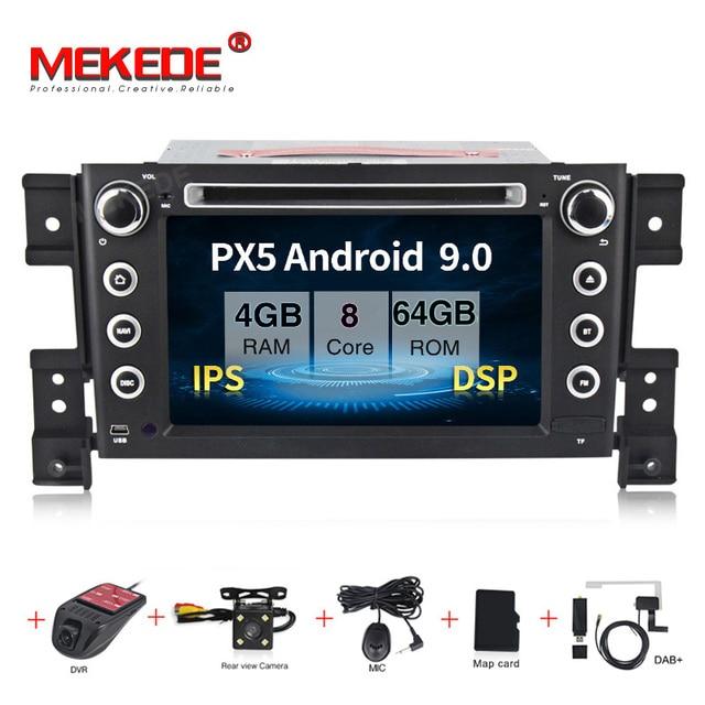 HD 2DIN DSP IPS אנדרואיד 9.0 4G רכב GPS 2 דין DVD נגן עבור סוזוקי גרנד VITARA 2007 2013 GPS רדיו סטריאו מסך ניווט