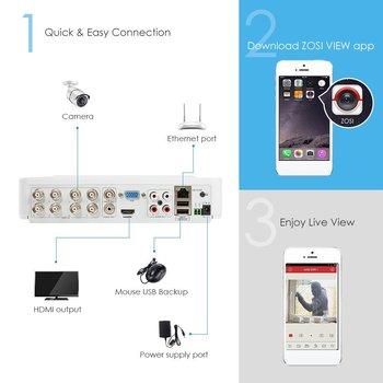 ZOSI 4CH/8CH H.265 + HD 5.0MP Â�キュリティカメラシステムと 4 × 5 Ã�ガピクセル HD ű�外/屋内 CCTV Â�メラ監視キット