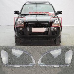 Image 2 - MAYITR 1 Paar Auto Scheinwerfer Scheinwerfer Klar Objektiv Shell Abdeckung Links & Rechts Für HYUNDAI TUCSON 2005 2006 2007 2008 2009