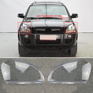 Image 2 - MAYITR 1 Pair Car Headlight Headlamp Clear Lens Shell Cover Left & Right For HYUNDAI TUCSON 2005 2006 2007 2008 2009