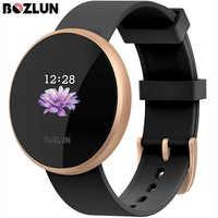 Bozlun b36 feminino relógio inteligente moda digital feminino lembrete de período calorias passo esporte à prova dwaterproof água relógios reloj mujer