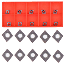 10PCS For Lathe Turning Tool Holders CCMT060204 Carbide Inserts CCMT0602