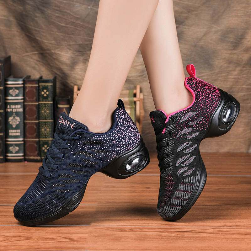 2020 Sneakers Dance Shoes For Women Flying Woven Mesh Comfortable Modern Jazz Dancing Shoes Girls Ladies Outdoor Sports Shoes