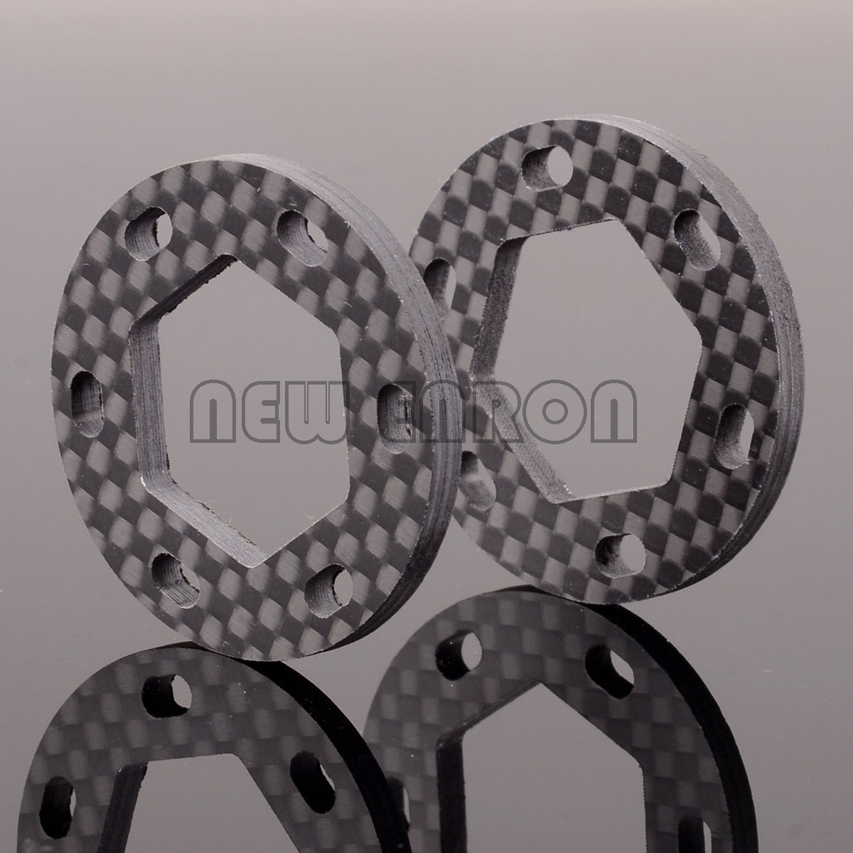 NEW ENRON 2PCS Carbon Fiber DUAL FIBERGLASS BRAKE DISK 19x35x3mm 87050 HPI SAX87055 SAVAGE X 4.6 5.9