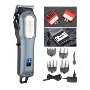 Image 1 - WMARK cordless ricaricabile Capelli taglio Capelli Trimmer 2000mAh batteria Al Litio 6000 6500rm tagliatore di capelli Professionale con il regalo