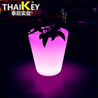 Barato La mejor calidad 2019 luz LED cambio de colores recargable control remoto maceta flor brillo