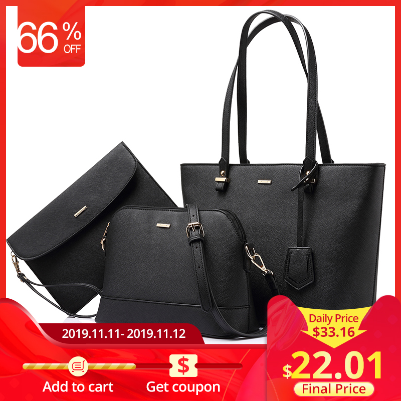 LOVEVOOK Handbag Women Shoulder Bags Designer Crossbody Bag Female Large Tote Bag Set Luxury Purse And Clutch 2019