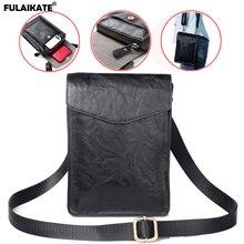 """FULAIKATE 7,2 """"Universal Telefon Tasche für Huawei Mate 20X Retro Schulter Beutel für Xiao mi mi Max 3 Große größe Taille Tasche für iPhone"""