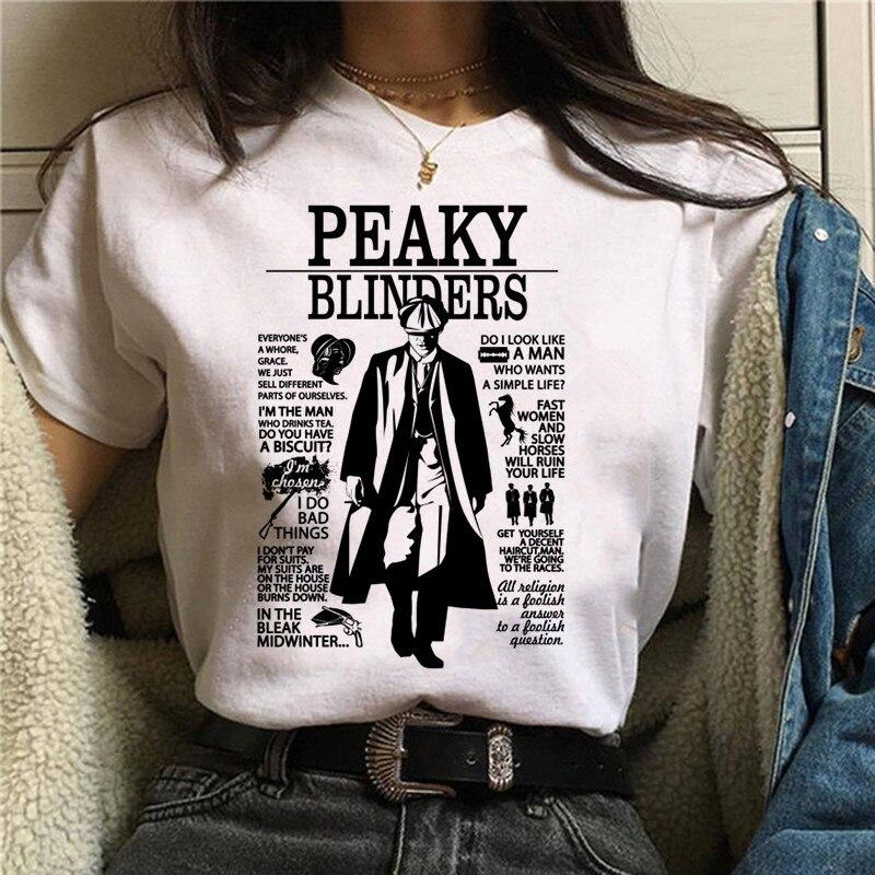 Peaky Blinders T Shirt Top Tee T-shirt Oversized Male/women Men Tshirt Fashion Streetwear Hip Hop Shirts Cool O-Neck Summer 1