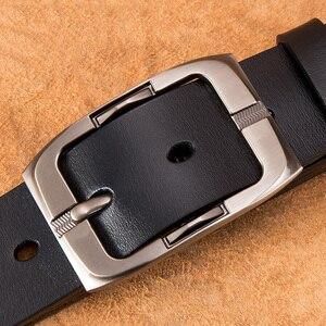Image 5 - BISON DENIM Pin Buckle Men Belt Cow Genuine Leather Belt Luxury Strap Male Belts Classic Vintage High Quality Men Belt W71486