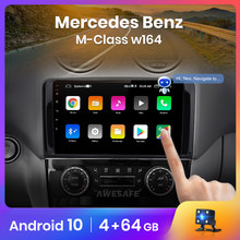AWESAFE PX9 10 2 Din Android Para Mercedes Benz GL ML W164 GL320 ML350 ML500 X164 GL350 GL450 2005 - 2012 Rádio Do Carro GPS 2din DVD