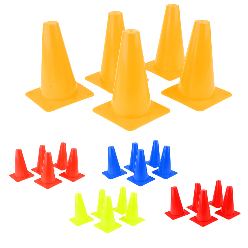 5pcs Plastic Cone Set For Sports Soccer Safety Agility Training Skateboard Skating