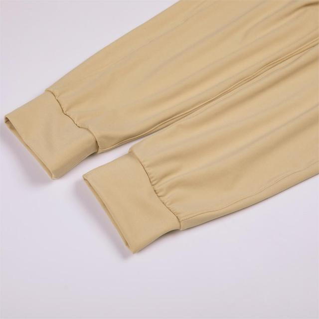 Stretch Drawstring Jogger Fitted Sweatpants