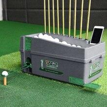 Piłka golfowa automatyczny serwer Pitching Machine Robot Box trening swingu golfowego Club Rack może pomieścić 60 100 kulek i 9 prętów golfowych uchwyt na kijek