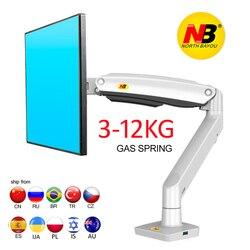 Novo braço de mola de gás f100a 22-35 polegada tela monitor titular 360 gire inclinação giratória desktop monitor montar braço 2-13kg portas usb3.0