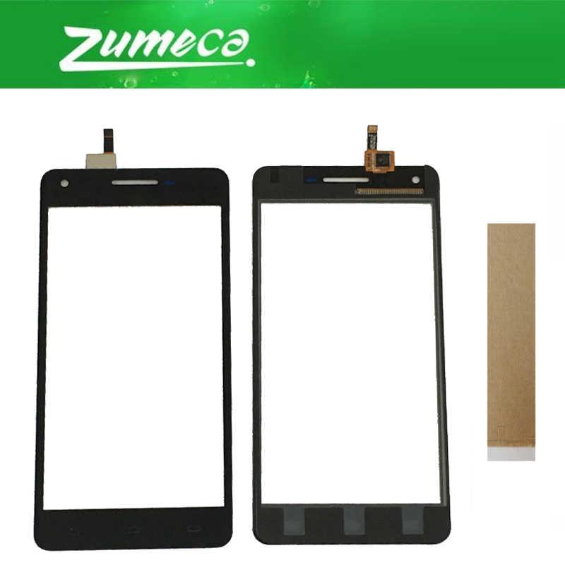 คุณภาพสูง 5.0 นิ้วสำหรับ Philips Xenium V377 Touch Screen Digitizer หน้าจอสัมผัสกระจกสีดำสีเทป