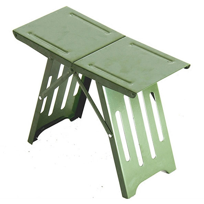 Outdoor Folding Stool Convenient Mini Steel Fishing Stool Small Lightweight Portable Seat Foldable Camp Chair