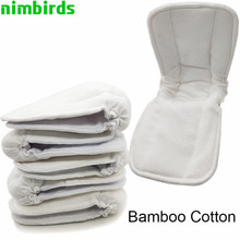 Nappy Inserts Diaper-Cover Changing-Liners Charcoal-Cloth Reusable Bamboo Baby Mat 5pcs