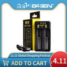 BASEN литий Батарея Зарядное устройство для 18650 26650 21700 10440 14500 16340 AA AAA Никель никель металл гидридного Смарт Зарядное устройство для Перезаряжаемые Батарея