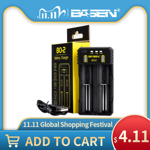 Image 1 - BASEN Lithium Battery Charger for 18650 26650 21700 10440 14500 16340 AA AAA Nickel NiMH Smart Charger For Rechargeable Battery