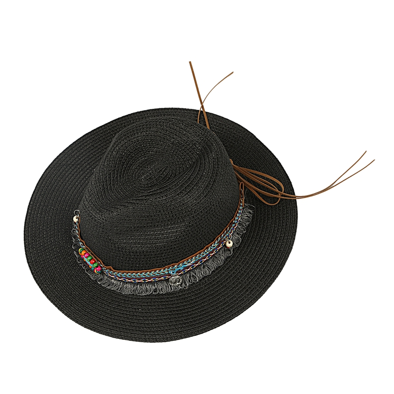New Spring Summer Bohemia Style Women/'s Jazz Caps Hats With Wide Birm Women
