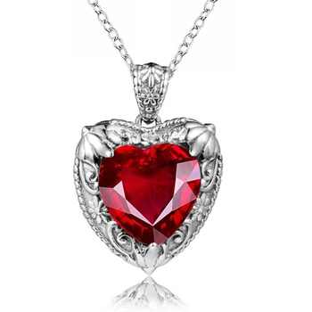 Huitan Silver Color Heart Necklace for Women Wedding Engagement Party Accessories Anniversary Aesthetic Necklaces Trendy Jewelry 1