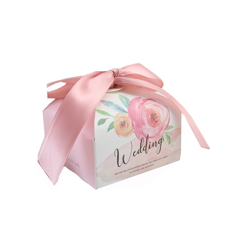 Wedding Favor Paper Gift Boxes Chocolate Bag Romantic Candy Box Baby Shower Birthday Gift Bags Bride Groom Party Supplies
