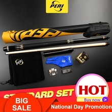 Offical PERI EX10 Billiard Cue Stick 12.75mm Hard Le Pro Tip Handmade Hardwood Canadian Maple kit  Kit with Gifts