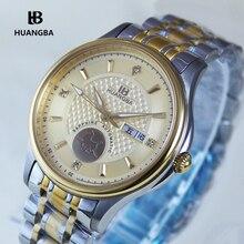 Huangba Men's Watches Model 3189G10 Mechanical Luxury Brand Sapphire Wristwatch
