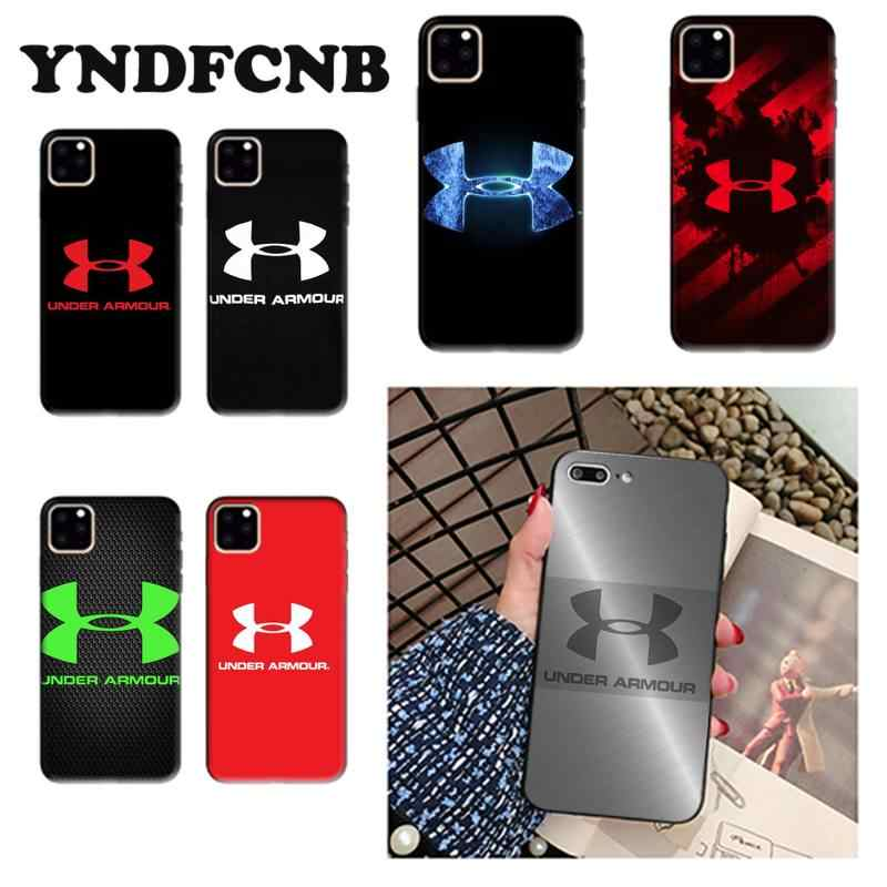 YNDFCNB Under Armour Logo Phone Case cute cover for iPhone 8 7 6 6S Plus X XS MAX 5 SE 5S XR 11 12 pro promax
